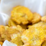 bowl of tostones fried plantains recipe