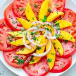 Mango, Tomato, and Red Onion Salad
