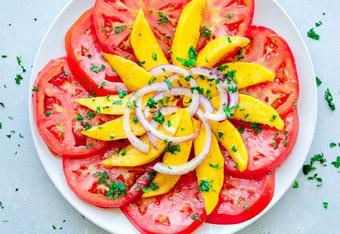 Mango, Tomato, and Red Onion Salad