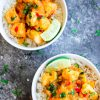 Mango Chicken with Coconut Rice