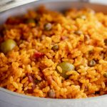 arroz con gandules traditional puerto rican rice with pigeon peas inside a caldero recipe