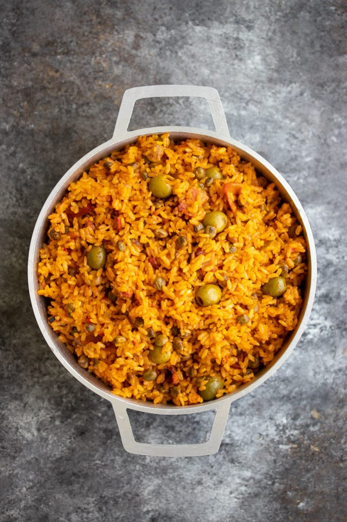 Arroz Con Gandules Puerto Rican Rice With Pigeon Peas Recipe Kitchen De Lujo