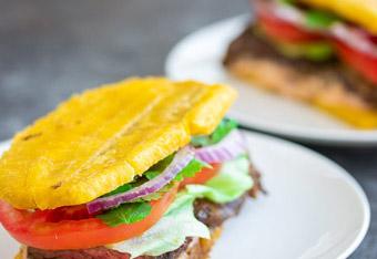 Jibarito (Plantain Skirt Steak Sandwich)