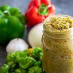 puerto rican sofrito recipe with ajies dulces green pepper onion garlic recaito