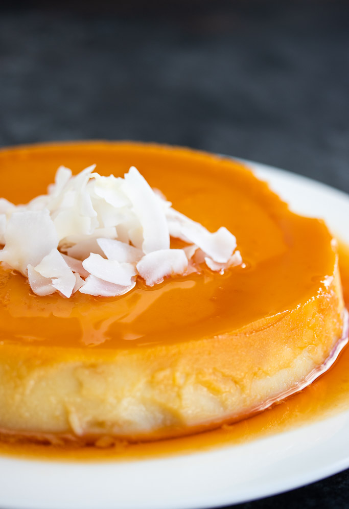 traditional cuban flan de coco coconut flan recipe