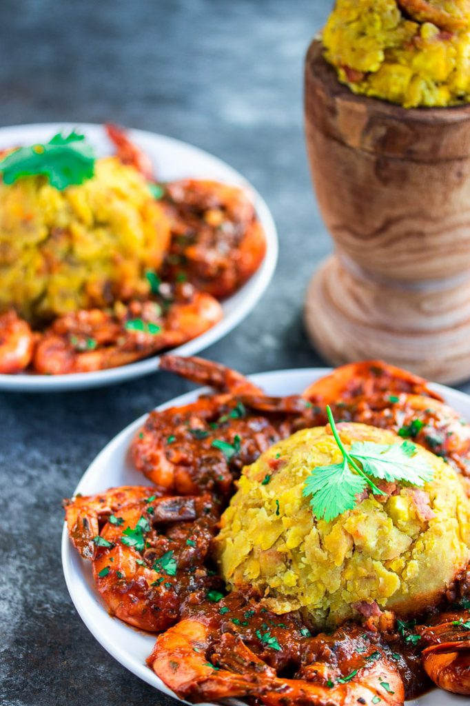 mofongo con camarones mashed fried plantains with shrimp tomato sauce recipe