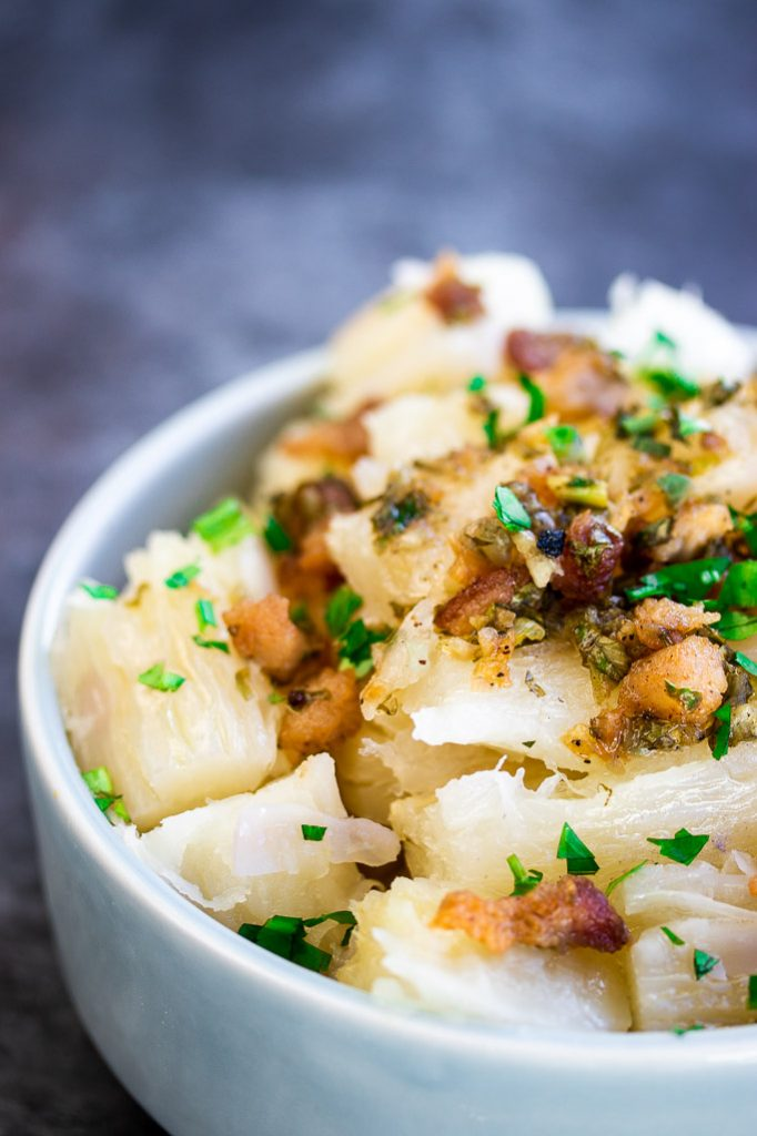 cuban yuca con mojo boiled cassava with garlic sauce recipe